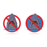 Requin dans la partie quatre de mer Image stock