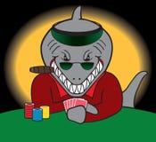 Requin de carte illustration stock