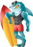 Requin de couleur chamois de surfer Image stock