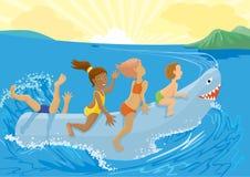 Requin de jouet Photographie stock libre de droits