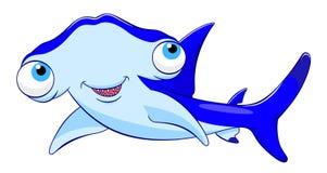 Requin de poisson-marteau de bande dessinée Image libre de droits