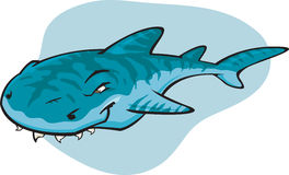 Requin de tigre de dessin animé Photo stock