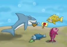 Requin en mer Images stock