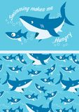 Requins nageant. Image stock