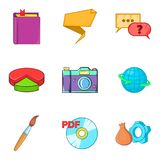 Required file icons set, cartoon style Stock Photography
