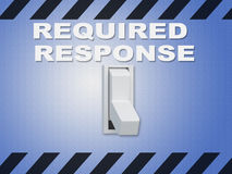 Required Response concept Royalty Free Stock Images