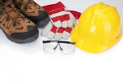 Required Safety Gear for Job Sites royalty free stock photos