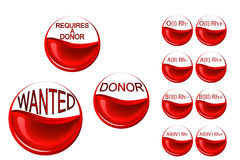 Requires a donor. Erythrocytes of the donor Stock Photos