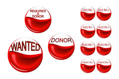 Requires a donor. Erythrocytes of the donor Stock Photography