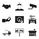 Requisite icons set, simple style Royalty Free Stock Images
