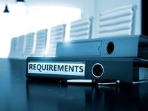 Requisiti della cartella dell'ufficio Immagine tonificata 3d Immagini Stock Libere da Diritti