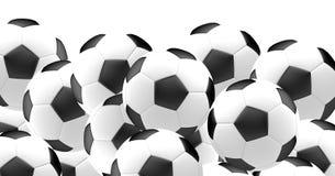 Requisito del balompié ball La bola 3d del fútbol del fútbol rinde Imágenes de archivo libres de regalías