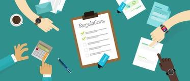 Requisito standard del documento di società di legge di regolamento Fotografie Stock Libere da Diritti