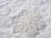 Rerecreation snowflake Arkivbilder