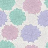 Rero bezszwowy wzór z kwiatami Zdjęcie Royalty Free