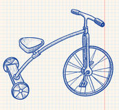 Rerto Tricycle. Retro-styled kid tricycle,  illustration Royalty Free Stock Photography