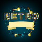 Rertro Banner image Royalty Free Stock Photography