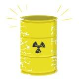 Resíduos radioativos Fotografia de Stock