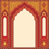 res曲拱在东方样式的与阿拉伯传统装饰品 免版税库存照片