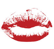 вектор res губ поцелуя Стоковое Изображение