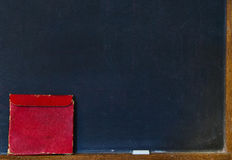 Red box on chalkboard Stock Image