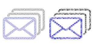 Res muerta poligonal Mesh Mail Queue e icono del mosaico libre illustration