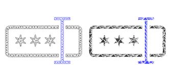 Res muerta poligonal Mesh Password Field e icono del mosaico ilustración del vector