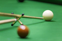Res stick on snooker game Stock Photo