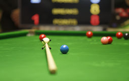 Res stick on snooker game Royalty Free Stock Photography