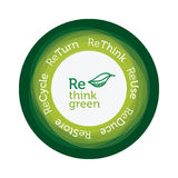 Think Green concept. Illustration logo, text ideas to encourage environmental care. Eps available Stock Photo