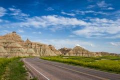 Resa badlandsna, South Dakota fotografering för bildbyråer
