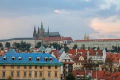 Resa byggande som är historiskt, Prague royaltyfria foton