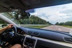 Resa Europa med bilen arkivfoto