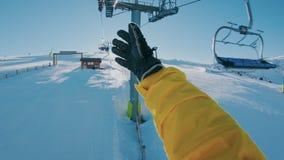 Resa i snödestinationer lager videofilmer