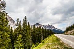 Resa längs den kanadensiska Rocky Mountain Arkivfoto