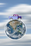 Resa med bilen runt om världen Royaltyfria Bilder