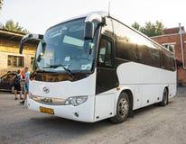 Resa med bussen arkivbild