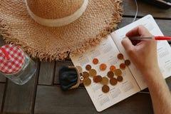 Resa på budget royaltyfria bilder