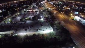 Resa på natten stock video