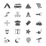 Resa plana symboler Fotografering för Bildbyråer