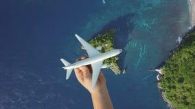 Resa runt om världen med flygtransport, begrepp för sommarsemester arkivfilmer