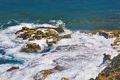 Resaca de la línea de la playa, Puerto Rico Imágenes de archivo libres de regalías
