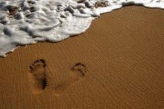 Resaca de la playa Imágenes de archivo libres de regalías