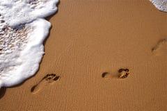 Resaca de la playa imagen de archivo libre de regalías