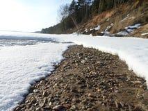 Resaca del invierno Fotografía de archivo libre de regalías