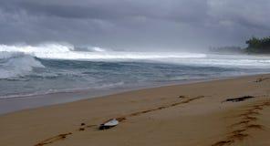 Resaca del norte de la orilla de Oahu Fotografía de archivo libre de regalías