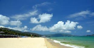 Resaca en la isla de Hainan Foto de archivo