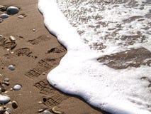 Resaca en la playa Imagen de archivo