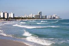 Resaca en playa del sur Miami Imagen de archivo libre de regalías
