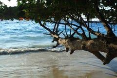 Resaca en una playa arenosa Imágenes de archivo libres de regalías